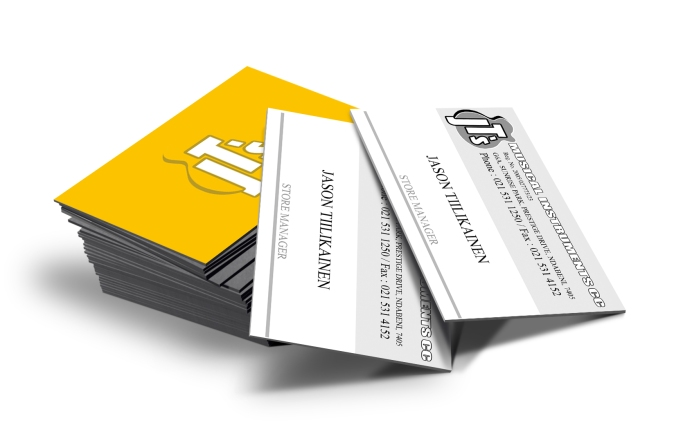 BUSINESS CARD DESIGN. JT'S MUSICAL INSTRUMENTS. CAPE TOWN, SOUTH AFRICA.