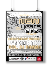 POSTER. NEW YEARS EVE PARTY, SOUTH AFRICA.