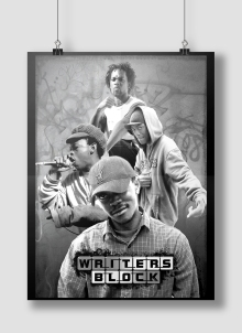 POSTER DESIGN. WRITERS BLOCK MUSIC GROUP. CAPE TOWN, SOUTH AFRICA.