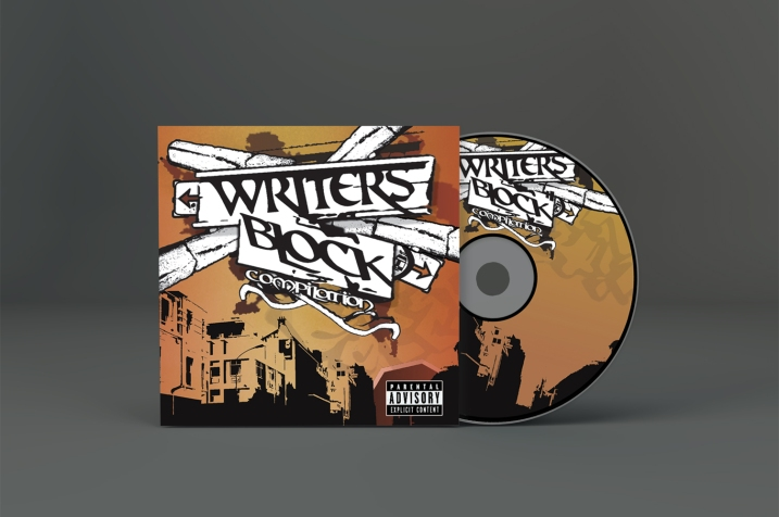 CD PACKAGING DESIGN. WRITERS BLOCK MUSIC GROUP. CAPE TOWN, SOUTH AFRICA.
