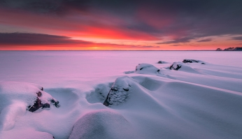 ''WINTER SUNSET III''. JOENSUU, FINLAND.