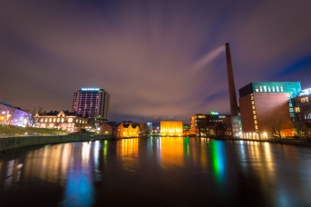 TAMPERE AT NIGHT. TAMPERE, FINLAND.