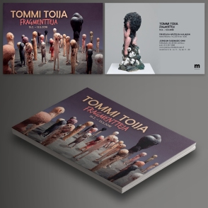INVITATION CARD. TOMMI TOIJA ART EXHIBITION. JOENSUU, FINLAND.