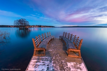 WINTER JETTY. SWEDEN.