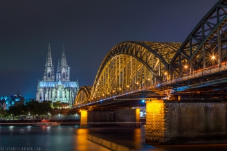 ''BRIDGE TO THE CATHEDRAL''. Cologne, Germany.