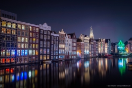 AMSTERDAM BY NIGHT. AMSTERDAM, NETHERLANDS.