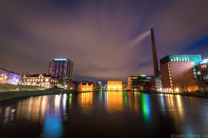 ''TAMPERE BY NIGHT''. Tampere, Finland.