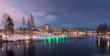 ''JOENSUU AT NIGHT''. Joensuu, Finland.