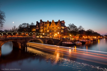 EVENING LIGHTS. AMSTERDAM, NETHERLANDS.