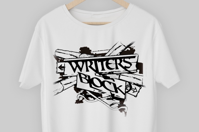 T-SHIRT DESIGN. WRITERS BLOCK HIP HOP CREW. CAPE TOWN, SOUTH AFRICA.