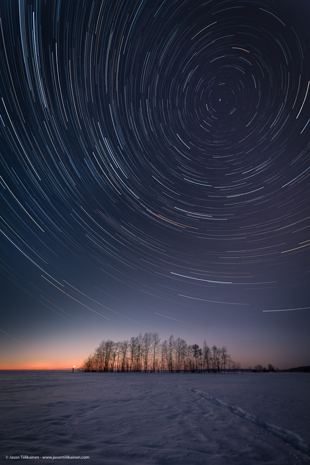 Star Trails At -20°C = Frosty Camera