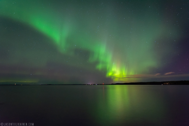 ''NORTHERN LIGHTS AROUND 20:30''. Kontiolahti, Finland.
