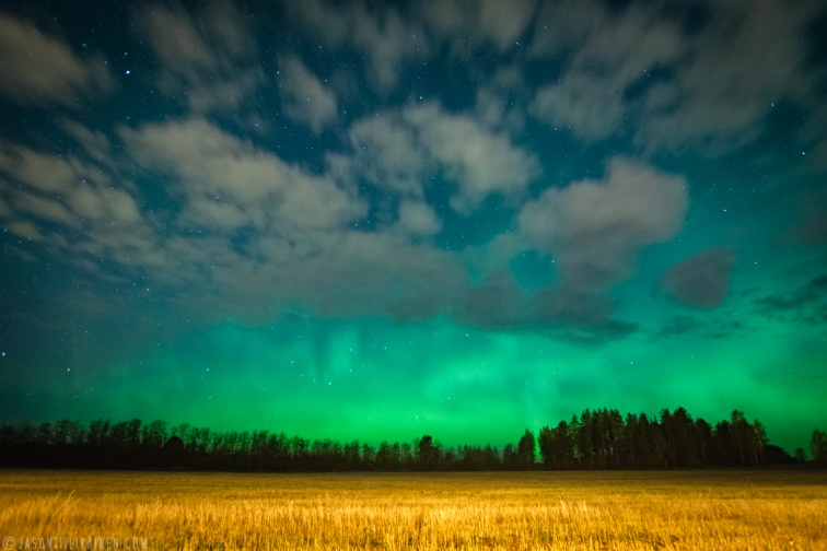 ''NORTHERN LIGHTS & FIELD II''. Kontiolahti, Finland.