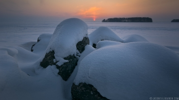 ''WINTER SUNSET''. Joensuu, Finland.
