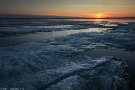 ''THAWING LAKE''. Joensuu, Finland.