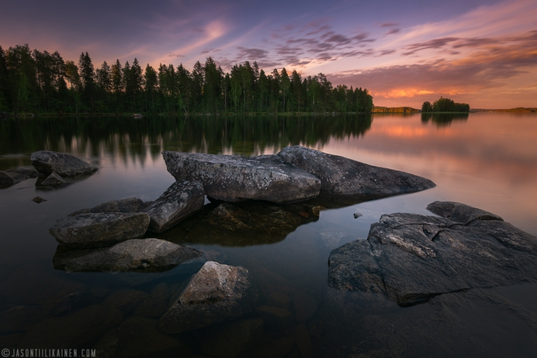 ''SUNSET IN FINLAND''. Finland.