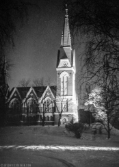 ''JOENSUU CHURCH''. Photo was taken with an old box camera in Joensuu, Finland.