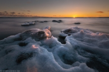 ''ICY SUNSET''. Joensuu, Finland.