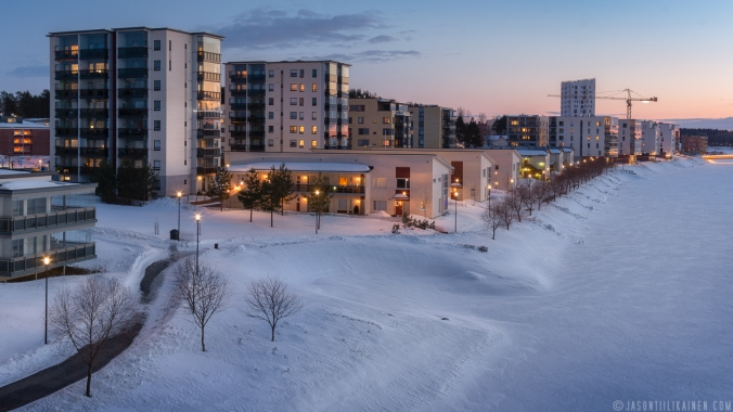 ''JOENSUU FROM THE BRIDGE''. Joensuu, Finland.