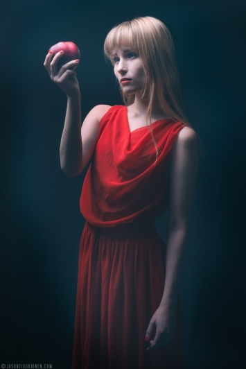 ''RED APPLE PORTRAIT''. Model: Rosa Summanen. Joensuu, Finland.