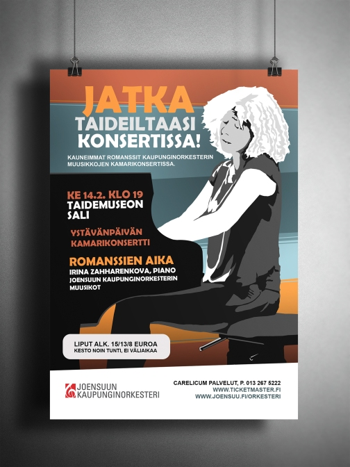 POSTER DESIGN FOR MUSIC EVENT. JOENSUU CITY ORCHESTRA.
