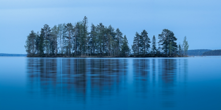 ''ISLAND AT NIGHT''. Lake Kapustaselkä, Finland.