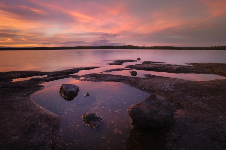 ''LOST ISLAND SUNSET''. Finland.