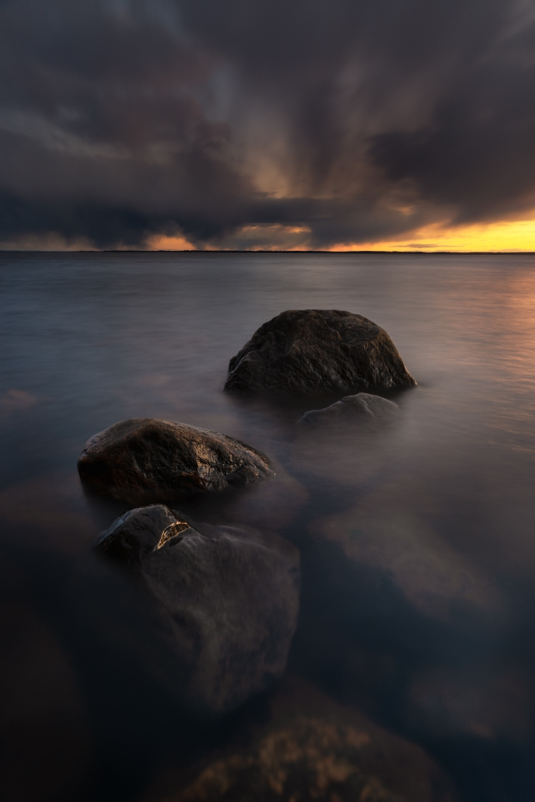 ''ROCKS & RAIN CLOUDS''. Joensuu, Finland.