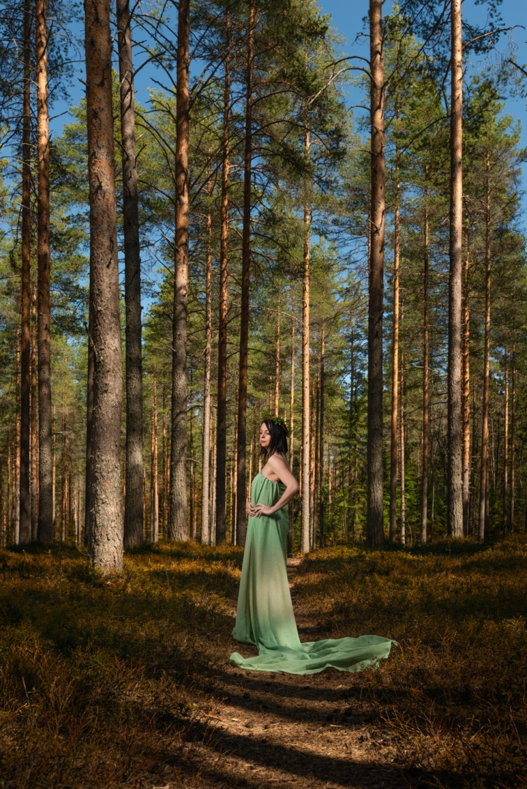 ''DORIS IN FOREST''. Model: Doris Weiglová. Joensuu, Finland.